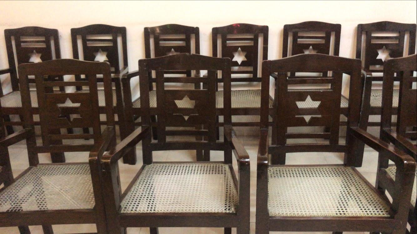 Chairs at Judah Hyam Synagogue Delhi